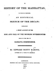a-history-of-the-mahrattas-by-edward-scott-waring