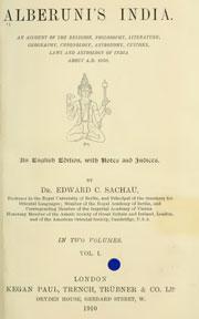 alberunis-india-volume-1
