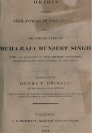 origin-of-the-sikh-power-in-the-punjab-and-political-life-of-maharaja-ranjit-singh