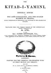 the kitab-i-yamini-historical-memoirs