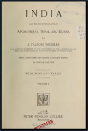 india-and-the-frontier-states-of-afghanistan-nipal-and-burma-by-james-talboys-wheeler-1824-1897