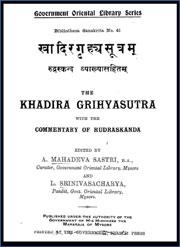 Khadira-grhya-sutra