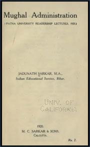 mughal-administration-by-jadunath-sarkar