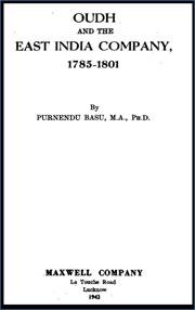 oudh-and-the-east-india-company-1785-1801-by-purnendu-basu