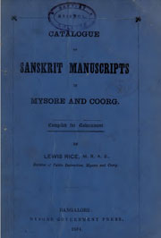 sanskrit-manuscripts-of-mysore-and-coord-by-lewis-rice