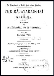 The-Rajatarangini-in-Sanskrit-vol-2-by-Kalhana