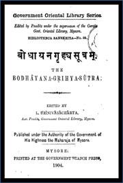 Bodhayana-Grihya-sutra